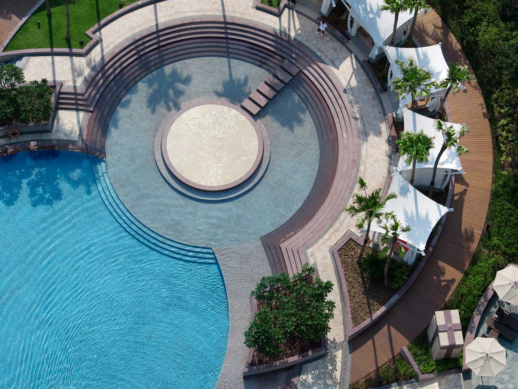 cool shaped swimming pools. True To Its Rock Origins, Hard Hotel Macau Has A Cool Guitar-shaped Circular Outdoor Heated Swimming Pool With Built-in Bar, Beach Volley Court And Shaped Pools